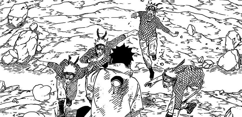 Naruto Clones against Sasuke