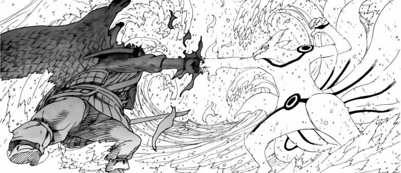 Naruto Kurama vs Sasuke Susanoo