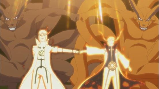 Naruto Minato and Kurama