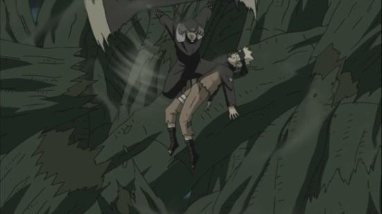 Naruto saved by Hiruzen