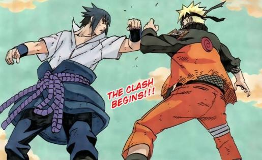 Naruto vs Sasuke Clash Begins