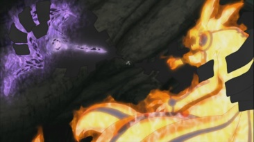 Obito captured Naruto and Sasuke
