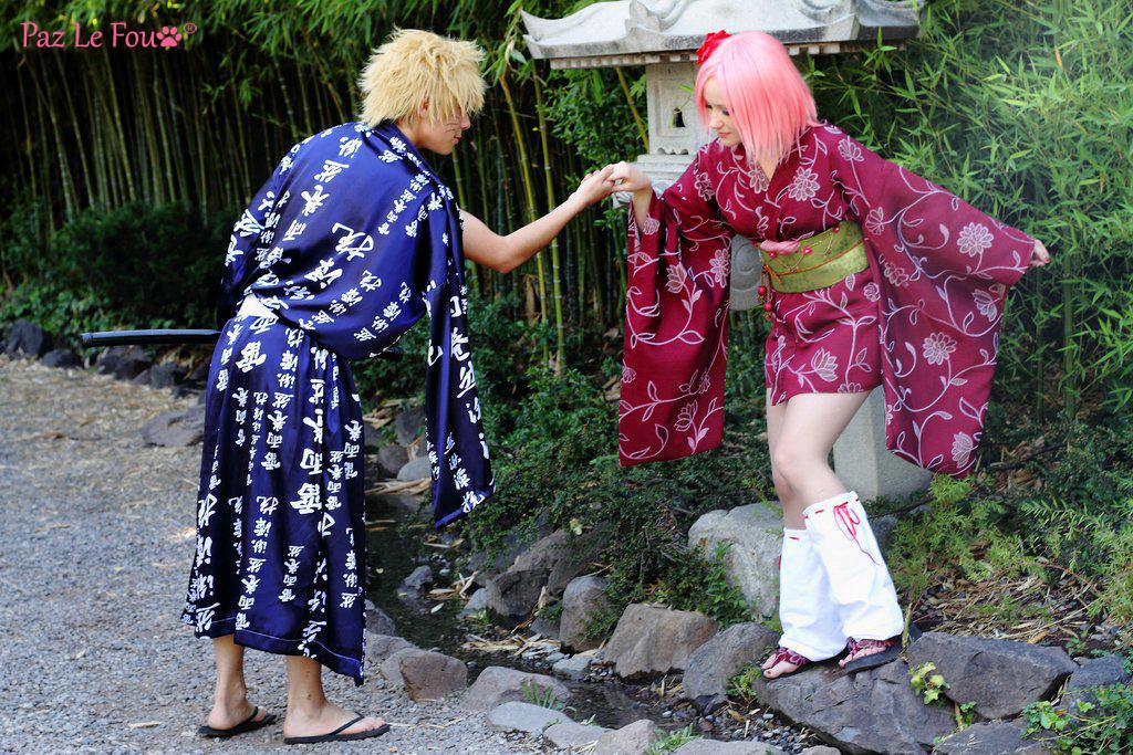 Sakura And Naruto Cosplay Gentleman By Paz Cosplay Daily Anime Art