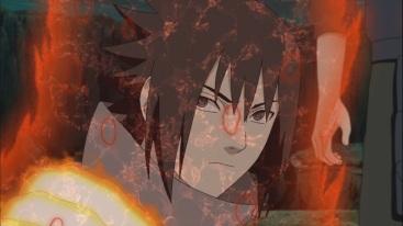 Sasuke with Naruto's Clad Chakra