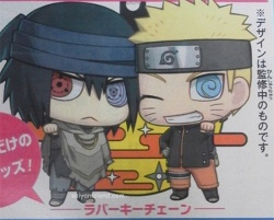 The Last Naruto The Movie Naruto and Sasuke Outfit Chibi