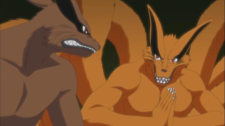 Quem se sobressai em suas versões do mangá — Naruto e Sasuke? Two-kurama1