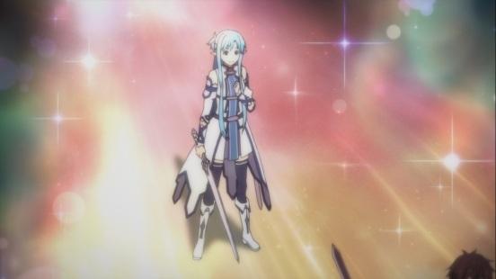 Asuna looks at Kirito