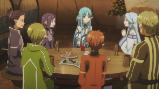 Asuna meets Sleeping Knights