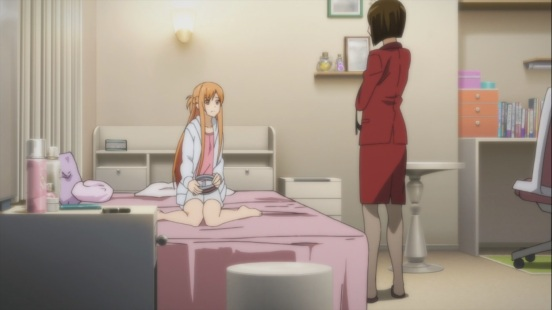 Asuna talks to her mother