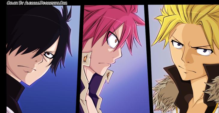 Fairy Tail 406 Rogue Natsu Sting by alexanj