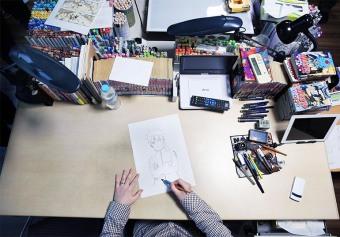Masashi draws Naruto Uzumaki