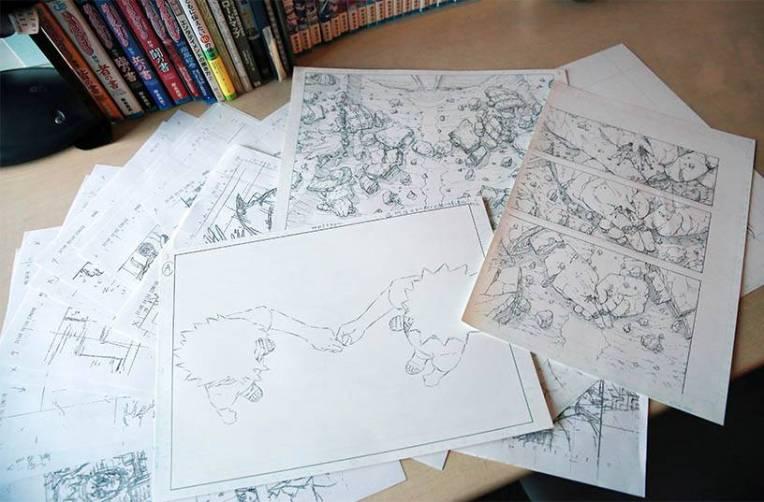 Masashi's work on Naruto 700