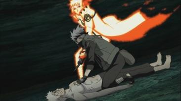 Minato stops Kakashi killing Obito