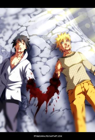 Naruto 698 Sasuke and Naruto friends by stingcunha