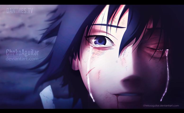 Naruto 698 Sasuke Cry's by chekoaguilar
