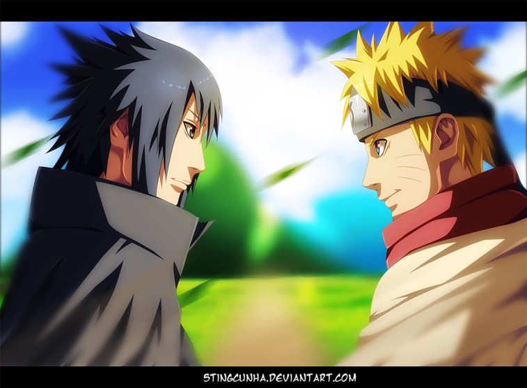 Naruto 699 Naruto and Sasuke by stingcunha