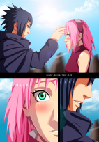 Naruto 699 Sakura and Sasuke by Uendy