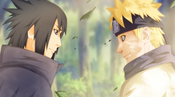 Naruto and Sasuke Friends Smile