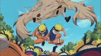 Naruto Clones punch Gaara