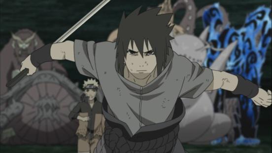 Obito see's Sasuke and Naruto