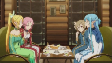 The Sword Art Online girls chat