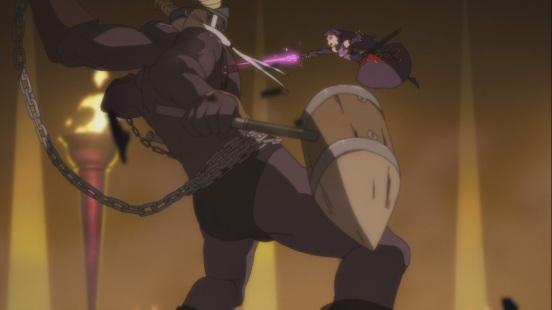Yuuki defeats Boss