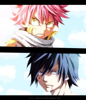 Fairy Tail 413 Natsu and Gray by akira-12
