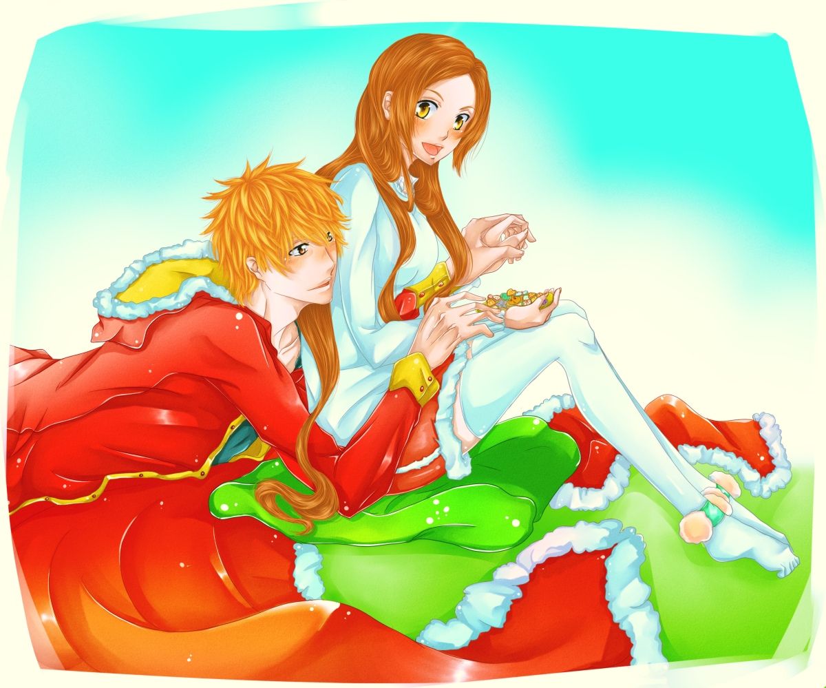 Merry Christmas – Ichigo and Orihime | Daily Anime Art
