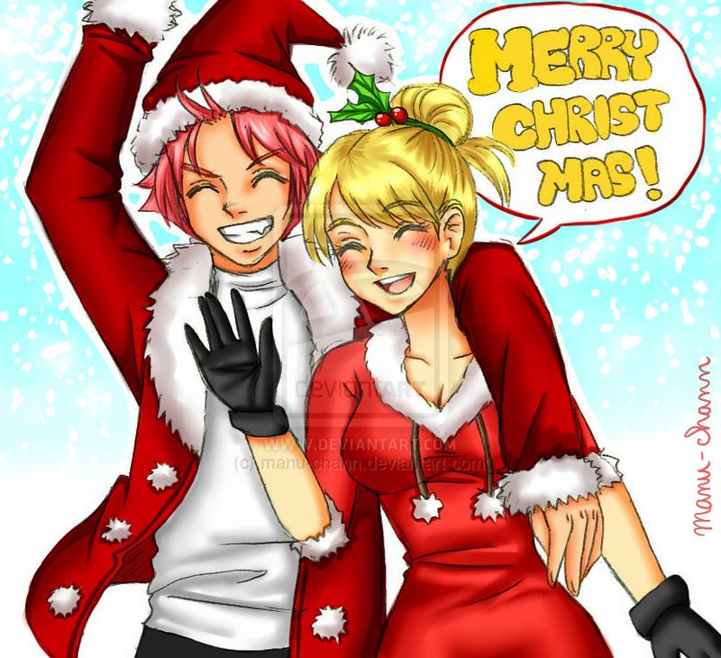 Natsu Lucy Christmas by Manu-chann