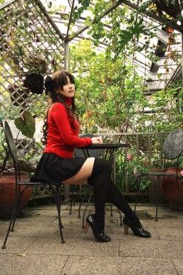 Rin Tohsaka sat down by 0kasane0