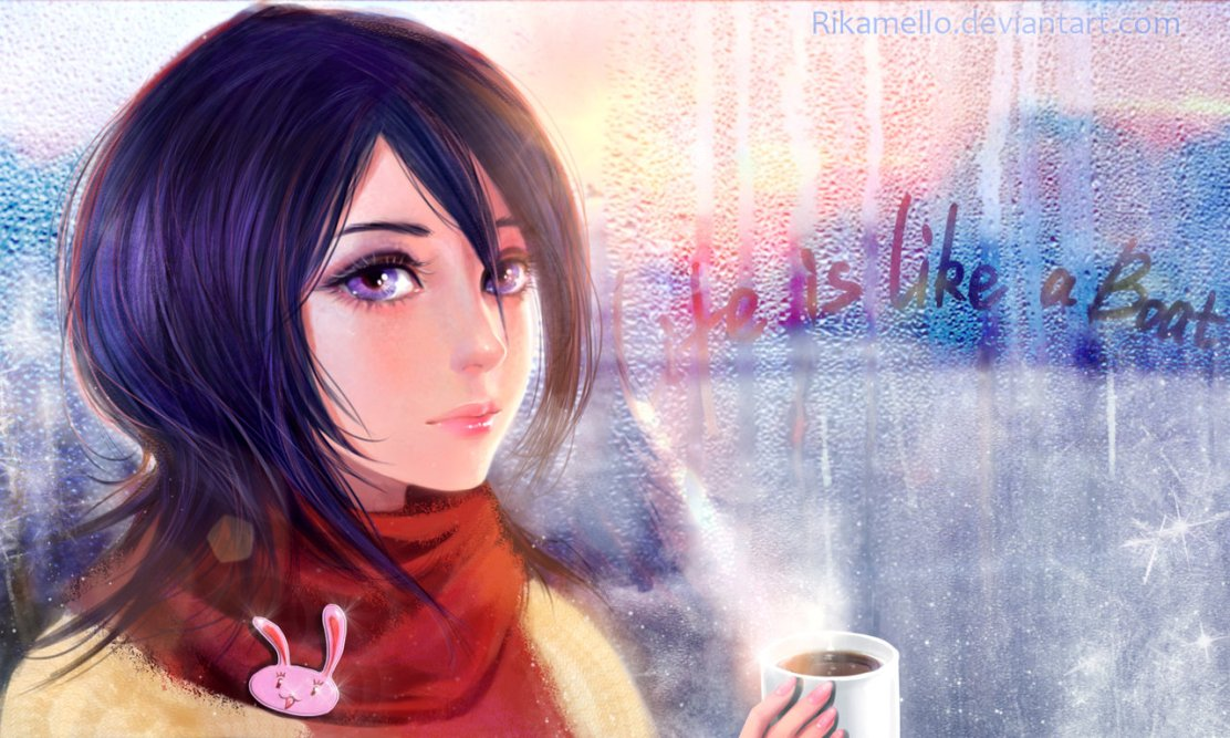 Rukia Kuchiki Hello Winter by RikaMello