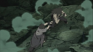 Sasuke attacks Madara