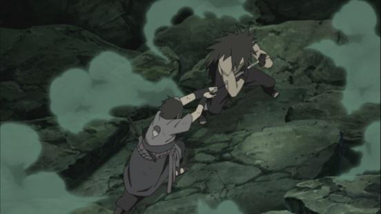 Sasuke attacks Madara