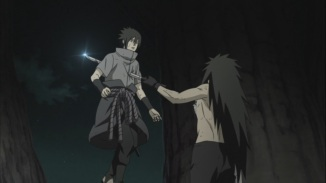 Sasuke Stabbed by Madara