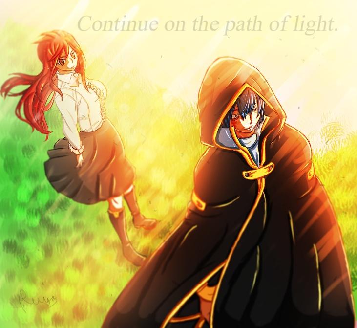 Fairy Tail 416 Erza and Jellal by reikaiyusuki