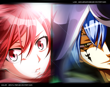 Fairy Tail 416 Erza and Jellal by santu-fer