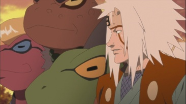 Jiraiya with Frogs