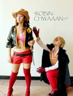 Nico Robin and Sanji One Piece Film Z by jlrave