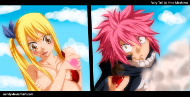 Fairy Tail 418 Natsu and Lucy by uendy