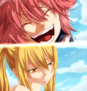 Fairy Tail 418 Natsu Lucy by designerrenan
