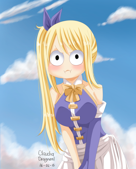 Fairy Tail 420 Lucy by claudiadragneel