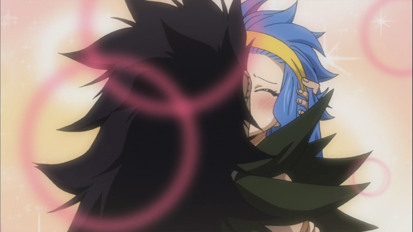 Gajeel and Levy kissing | Daily Anime Art