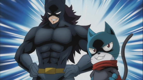 Gajeel and Lily Batman and Robin