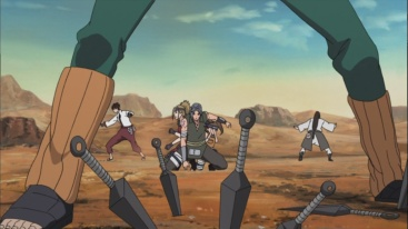 Lee and Neji protects Team Shira