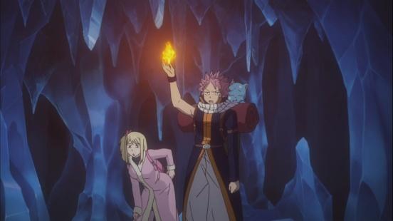 Natsu in a cave