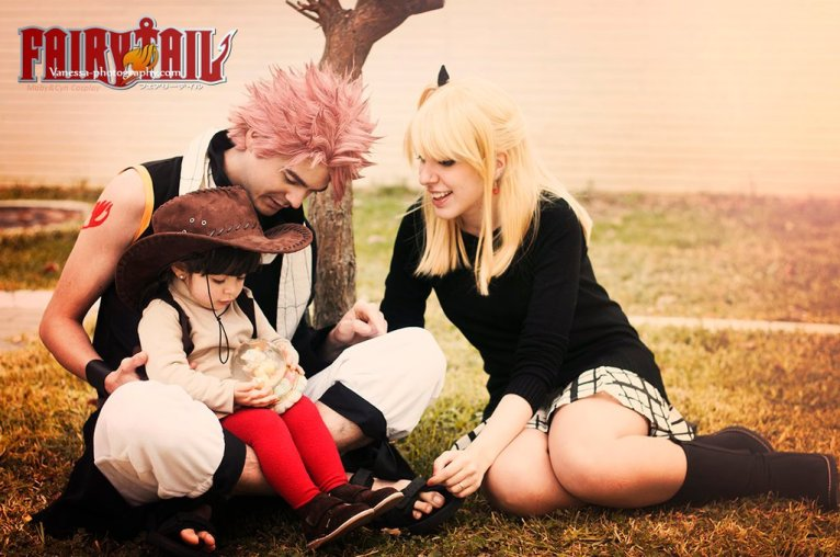 Natsu Lucy Asuka Fairy Tail Cosplay by onlycyn