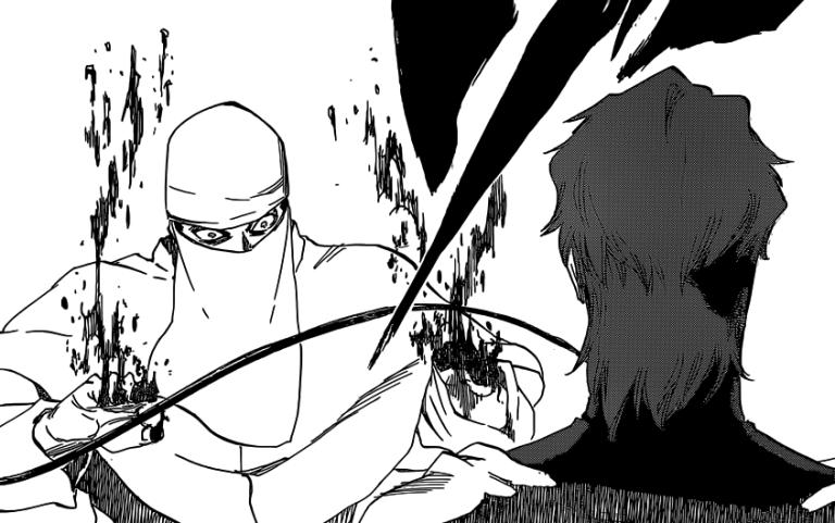 Aizen cuts mans hands