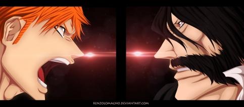 Bleach 618 Yhwach vs Ichigo by renzolomagno