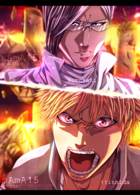 Bleach 619 Ichigo vs Ishida by sama15