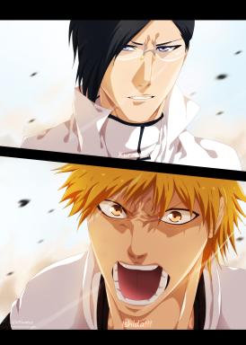 Bleach 619 Uryu and Ichigo by khalilxpirates
